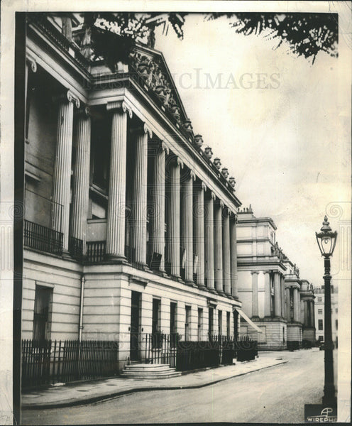 1936 Press Photo Home of Mrs Simpson near Buckingham Palace - Historic Images