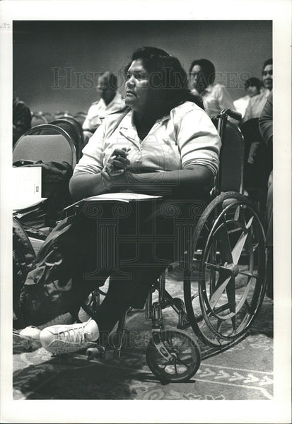 1987 Press Photo Eva O'John, National American Indians With Disabilities - Historic Images