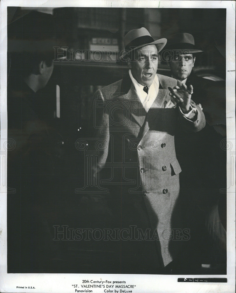 1967 Press Photo Actor Al Capone The Valentine S Day Massacre