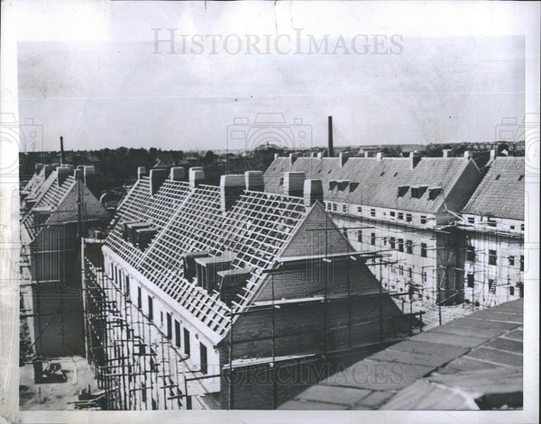 1952 Press Photo Housing Construction in Luebeck Germany - Historic Images