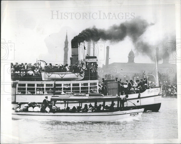 1935 Press Photo Alex J. Sullivan Steamship and Ferry - Historic Images