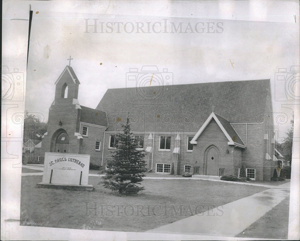 1952 Press Photo Cheyenne Wyoming St. Paul's Church - Historic Images