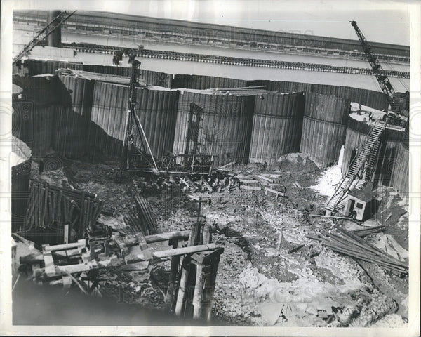 1937 Press Photo Coffer Dam - Historic Images
