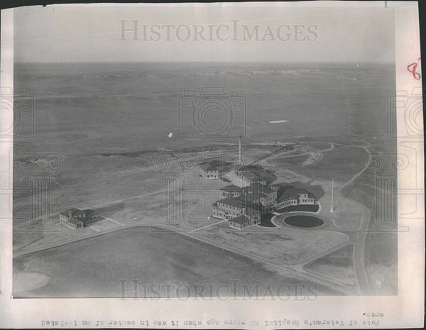 1953 Press Photo Wyoming Veterans Hospital aerial view - Historic Images