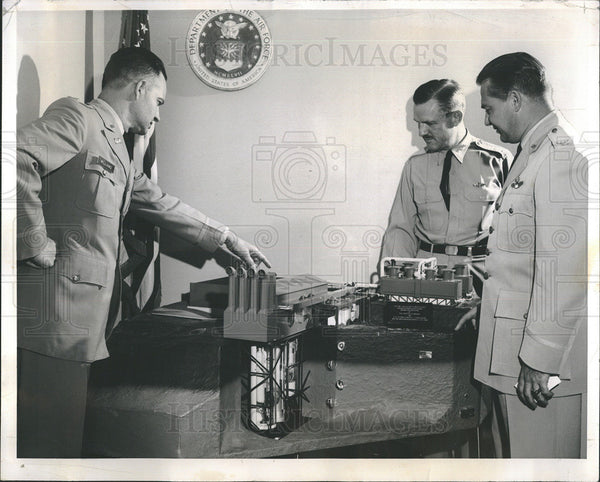 1960 Press Photo Col Donald Williams, Maj.Gen R.W. Puryear & Col. George Orr - Historic Images