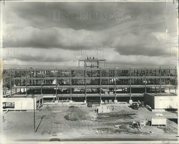 1950 Press Photo Cheyenne Wyoming Office Construction - Historic Images