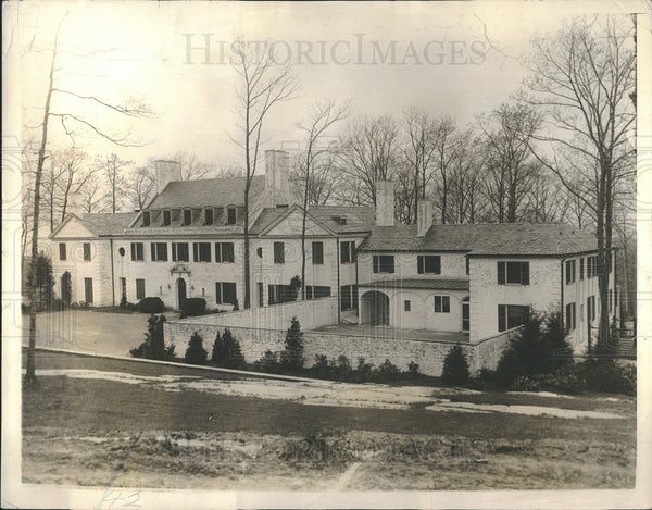 1932 Press Photo Home, Mrs Dwight Morrow, Englewood, NJ - Historic Images