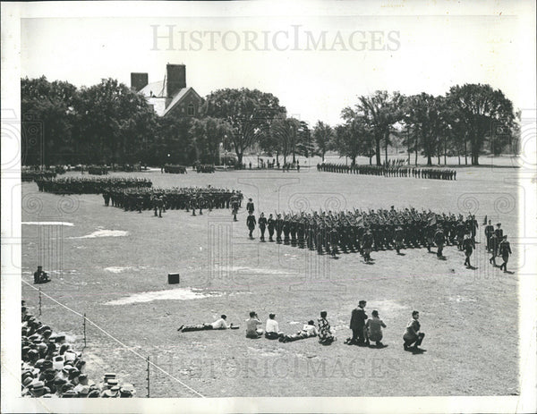 1938 Press Photo University of Illinois ROTC Brigade, Annual Review - Historic Images