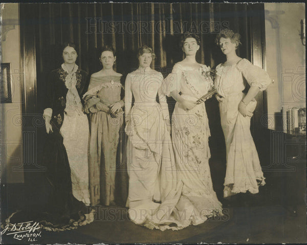 1931 Press Photo Meyer, Roberts, Parkin, Gibson and Melody to Model Costumes - Historic Images