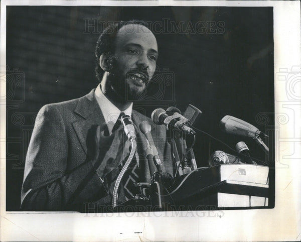 1975 Press Photo Albert A Raby civil rights activist of 60s - Historic Images