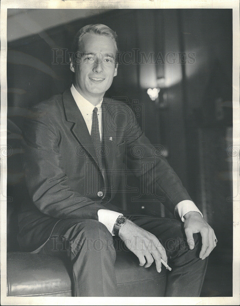 1963 Press Photo German Prince Michael Hohenzollern Visits U.S. - Historic Images