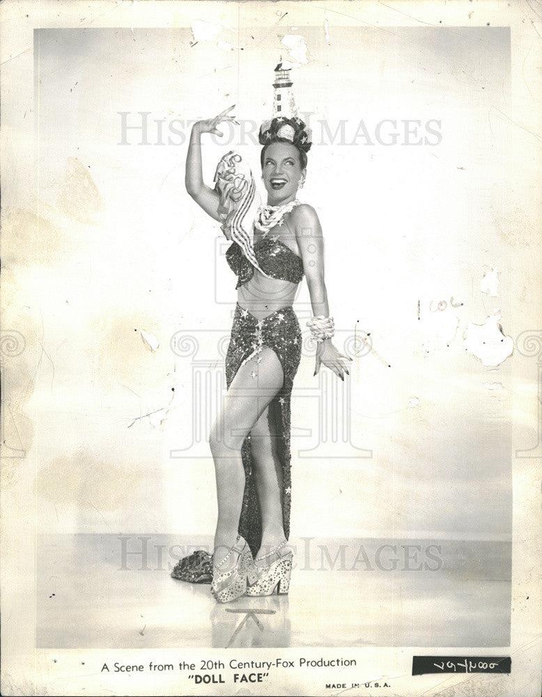 1946 Press Photo Carmen Miranda - Historic Images