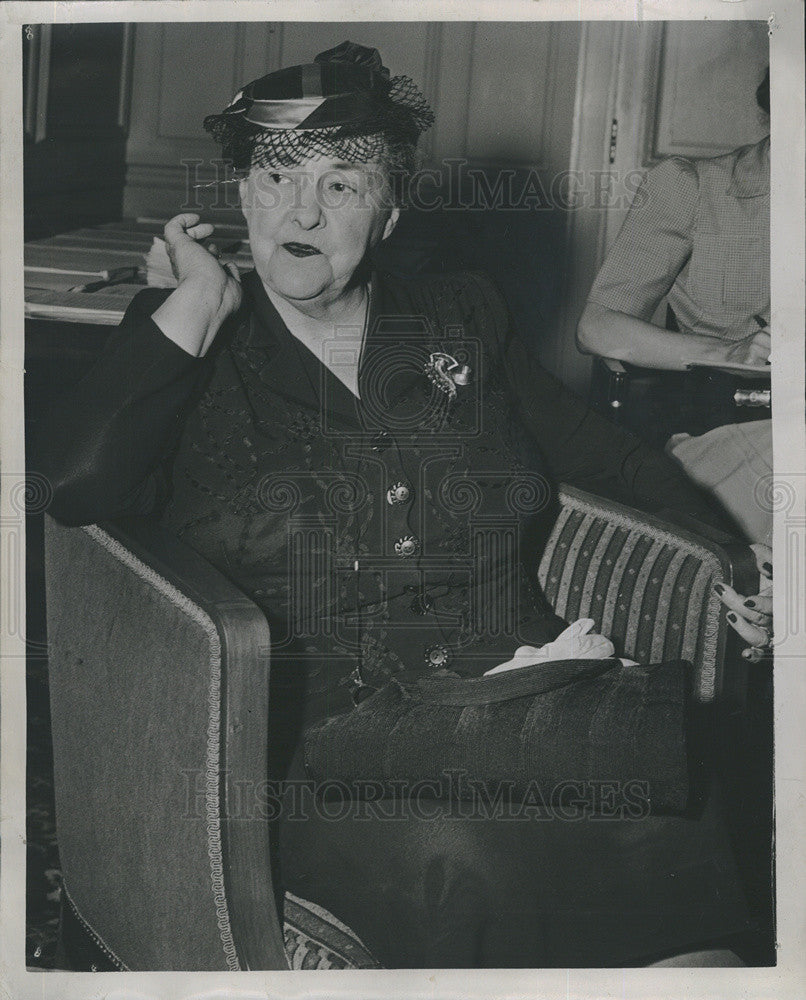 1944 Press Photo Mrs Mary Norton of NJ 1st Co-Chairman of Dem Platform Subcommit - Historic Images