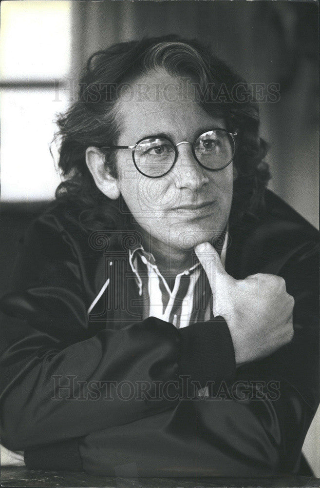 1985 Press Photo Director Steven Spielberg. - Historic Images