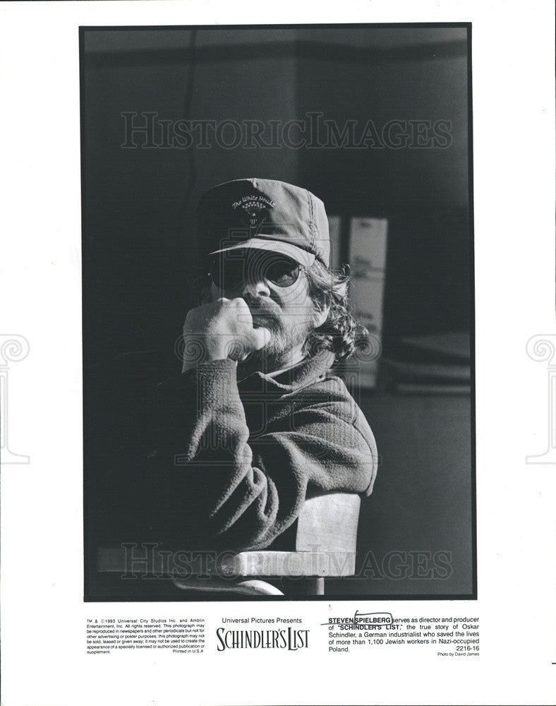"1994 Press Photo Director And Producer Of ""Schindler's List"" Steven Spielberg - Historic Images"