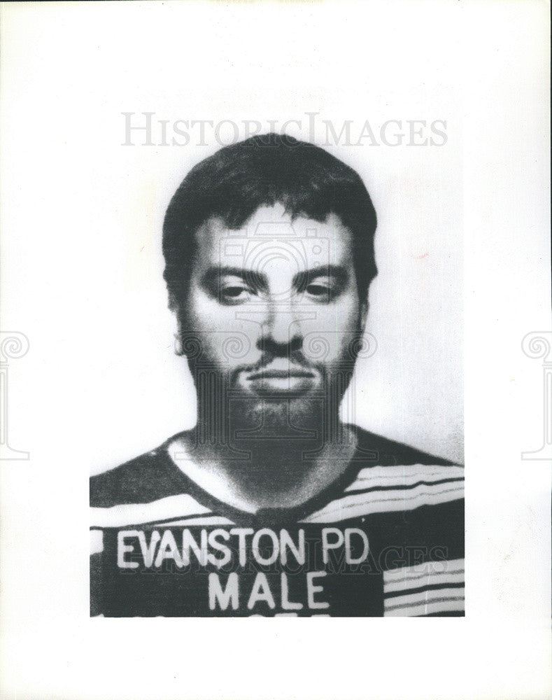 1985 Press Photo of math whiz David Youngerman arrested for attempted murder - Historic Images