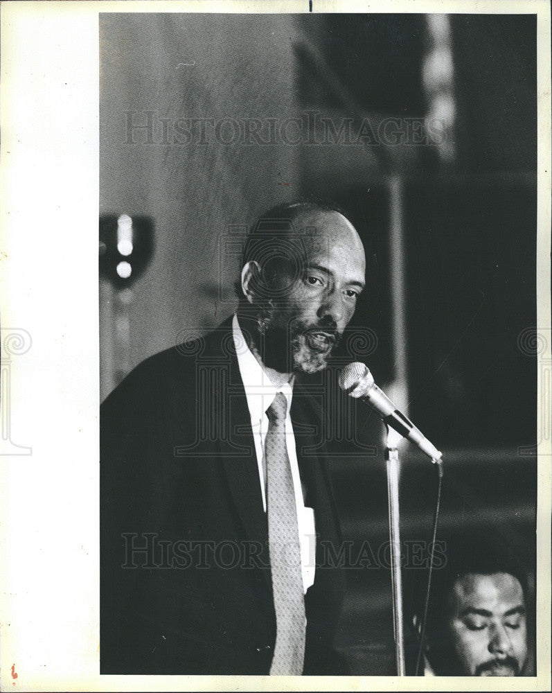 1983 Press Photo of Al Raby at debate for 1st Dist. Congress race in Chicago - Historic Images