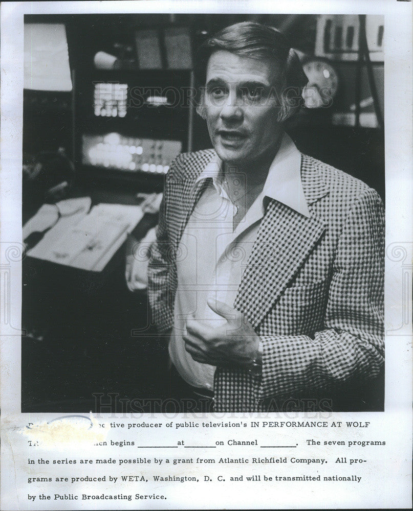 "1975 Press Photo Executive Producer of ""In Performance at Wolf Trap"" - Historic Images"