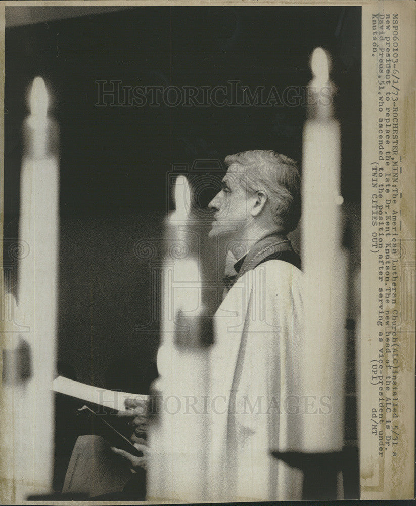1973 Press Photo American Lutheran Church Dr. David Preus - Historic Images