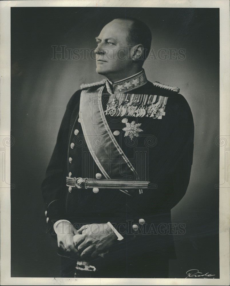 1968 Press Photo His Majesty King Olav V Norway Portrait Royalty - Historic Images