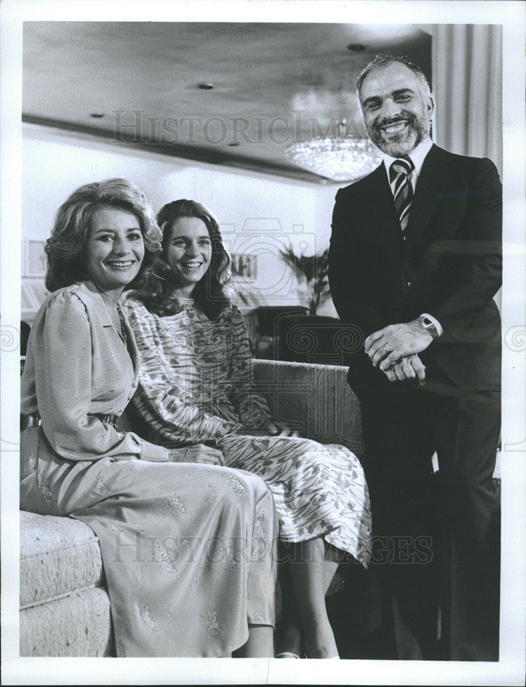 "1979 Press Photo Queen Noor & King Hussein on ""The Barbara Walters Special"" - Historic Images"
