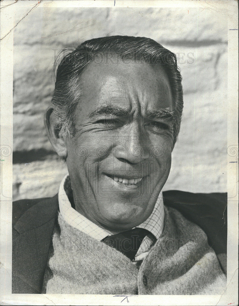 1971 Press Photo Anthony Quinn/Actor - Historic Images