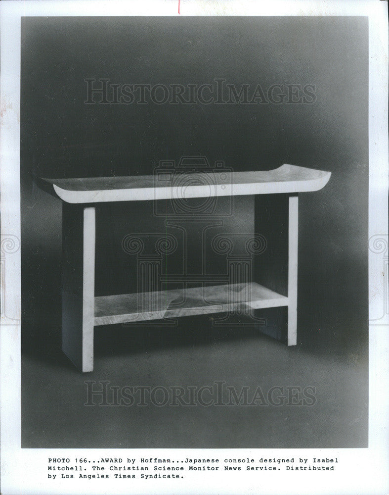 1982 Press Photo Console Designed By Isabel Mitchell - Historic Images
