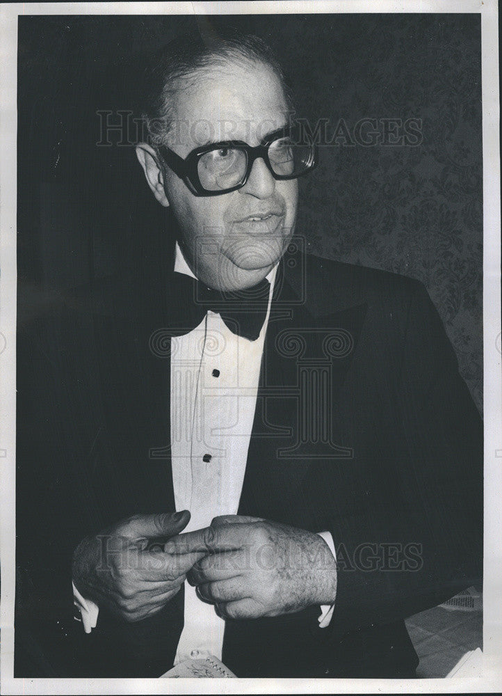 1976 Press Photo Former Foreign Minister of Israel Abba Eban prior to speaking - Historic Images