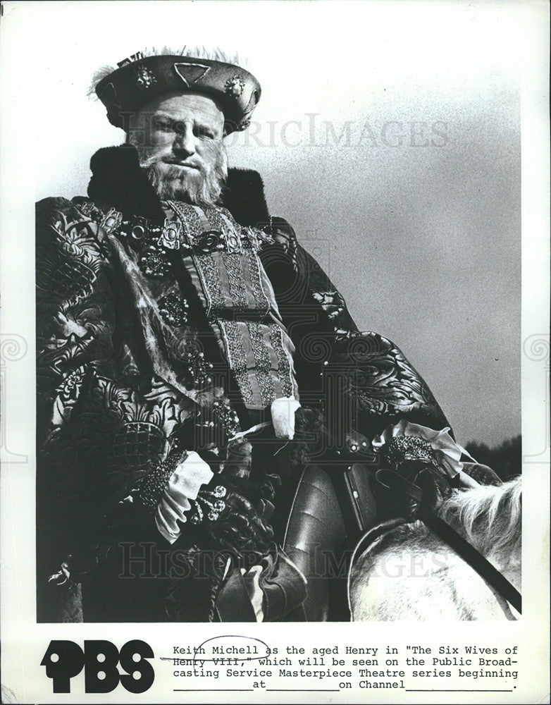 "1972 Press Photo Keith Michell in ""The Six Wives of Henry VIII"" - Historic Images"