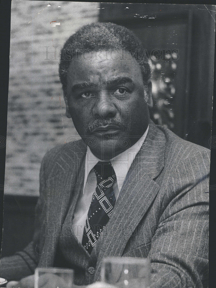 1977 Press Photo Illinois State Representative Harold Washington - Historic Images