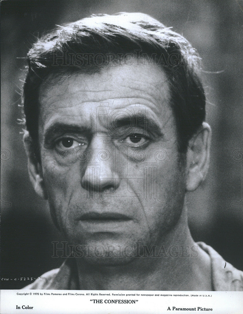 1970 Press Photo Actor Yves Montand Actor The Confession - Historic Images