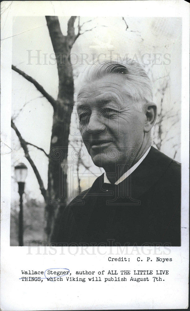 "1967 Press Photo Wallace Stegner, author of ""All the Little Live Things"" - Historic Images"
