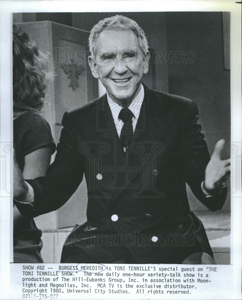 1980 Press Photo Actor Burgess Meredith - Historic Images