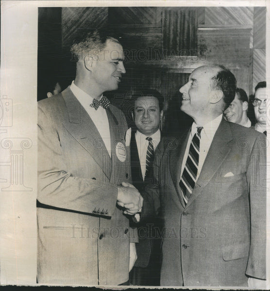 1955 Press Photo Gov. G. Mennen Williams & Adlai Stevenson - Historic Images