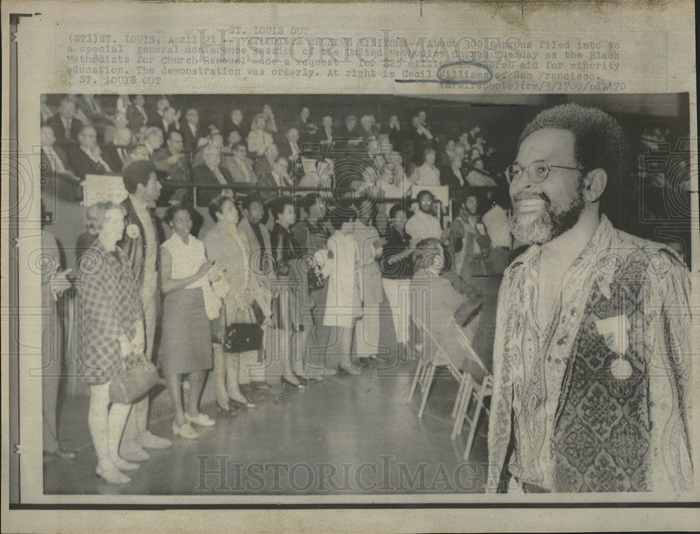 1970 Press Photo General Conference Session of the United Methodist Church - Historic Images