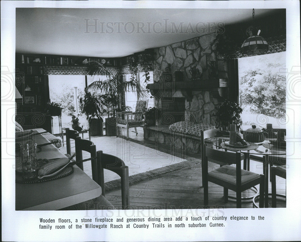 1978 Press Photo Family Room  Willowgate Ranch Model At Country Trails In Gurnee - Historic Images