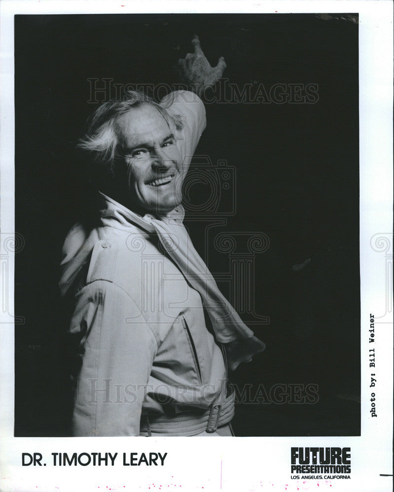 1980 Press Photo Dr.Timothy Leary at Bahamas Underground - Historic Images