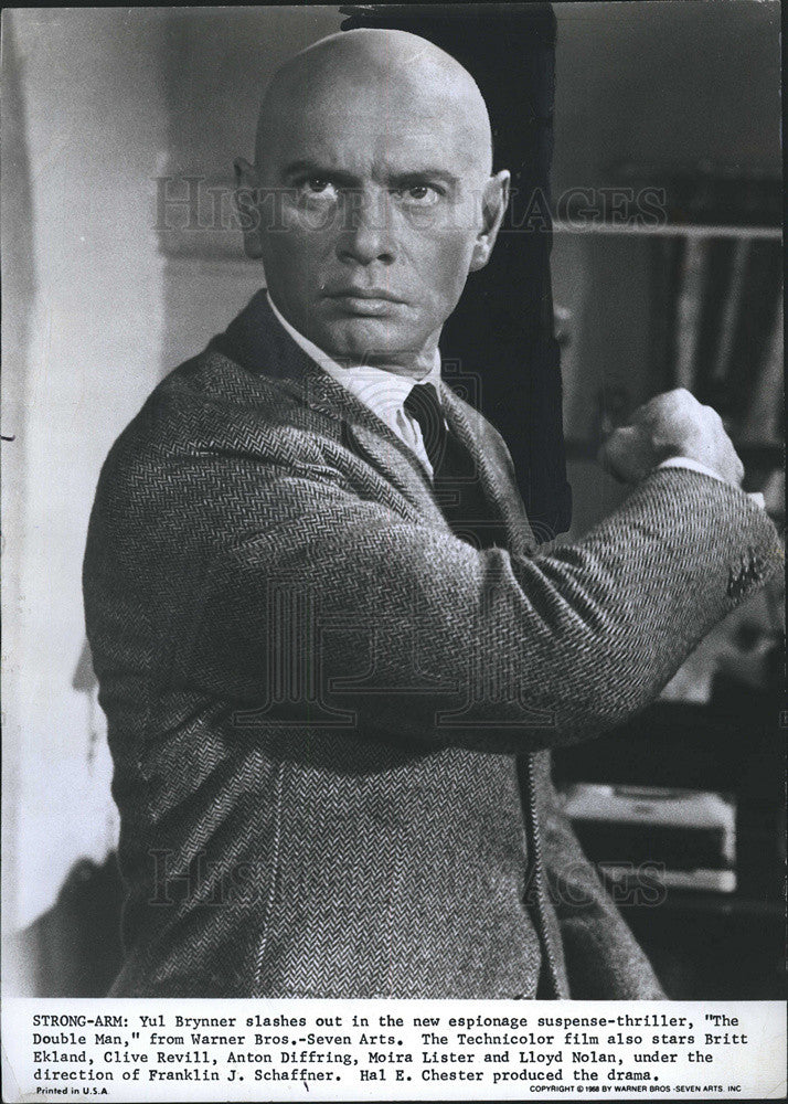 Press Photo Yul Brynner - Historic Images