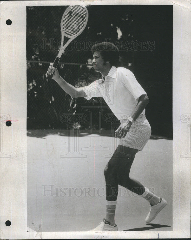 1975 Press Photo Arthur Ashe, Tennis Great - Historic Images