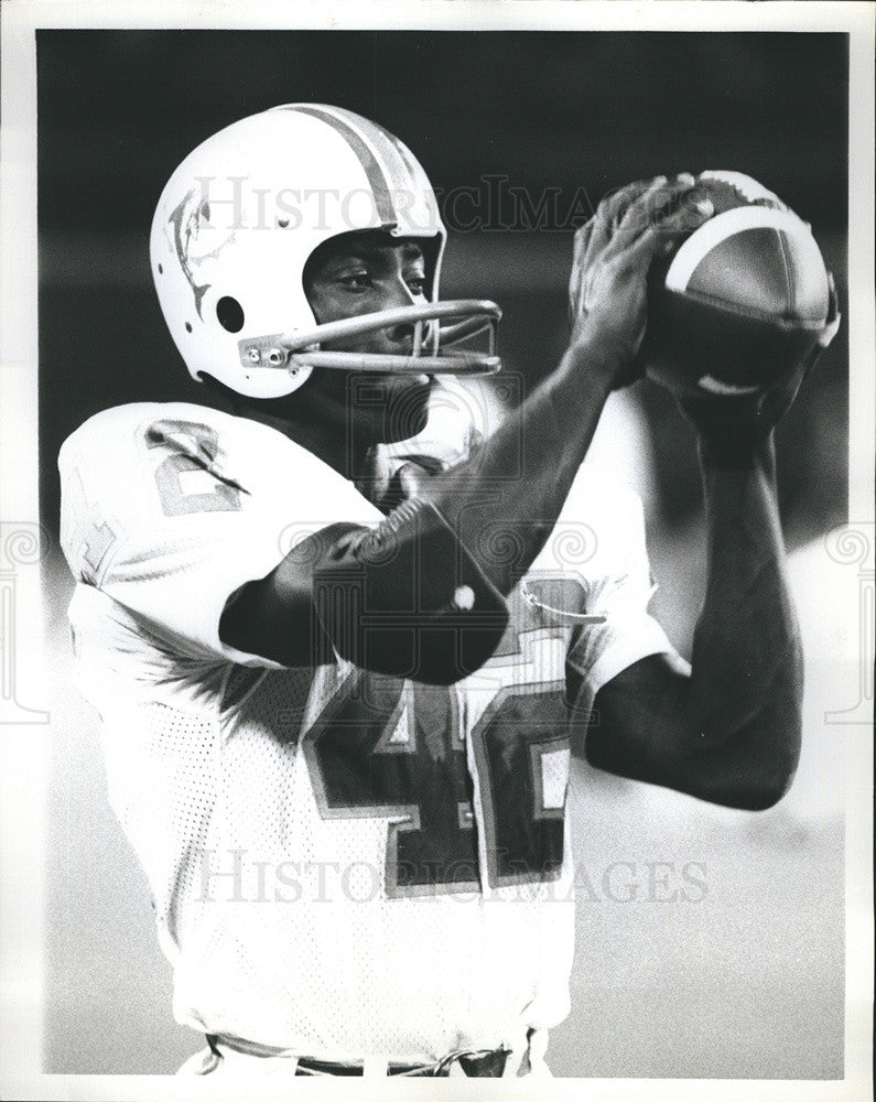 Press Photo Miami Dolphins Football - Historic Images