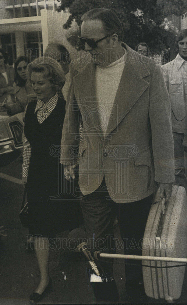1975 Press Photo Newspaper Executive Randolph Hearst and Wife - Historic Images