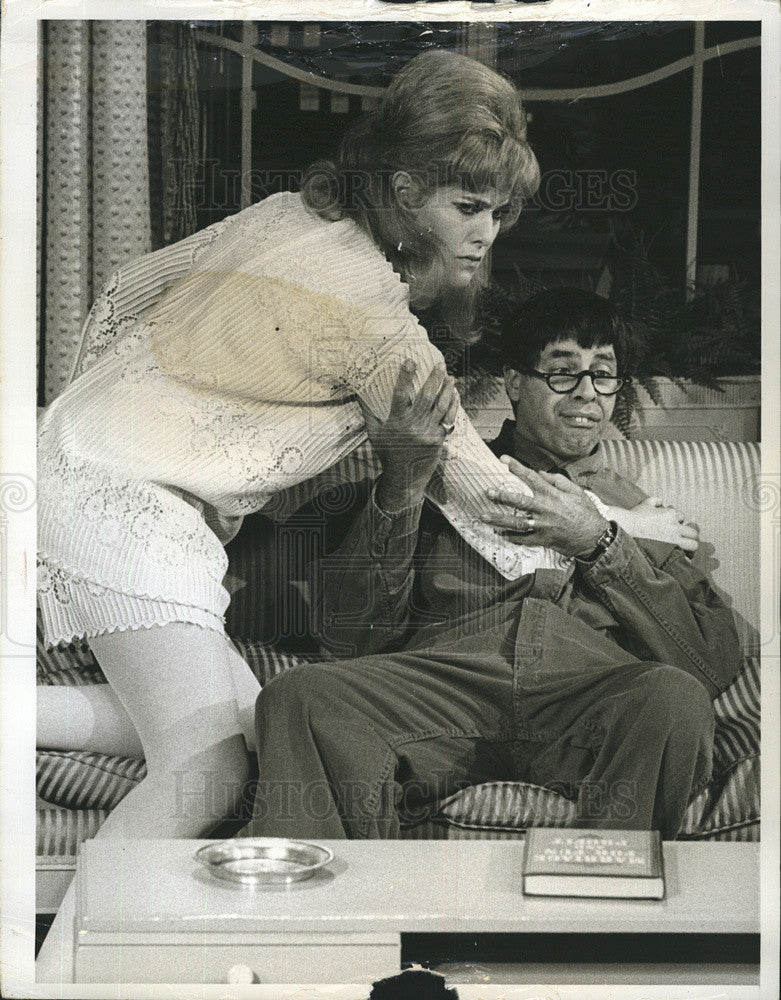 1968 Press Photo Actress Lynn Redgrave and Jerry Lewis - Historic Images