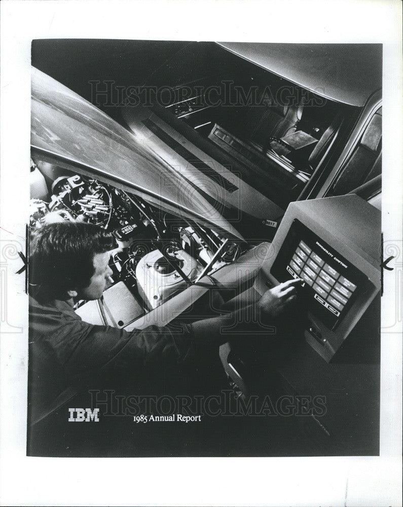 1986 Press Photo International Business Machines IBM - Historic Images