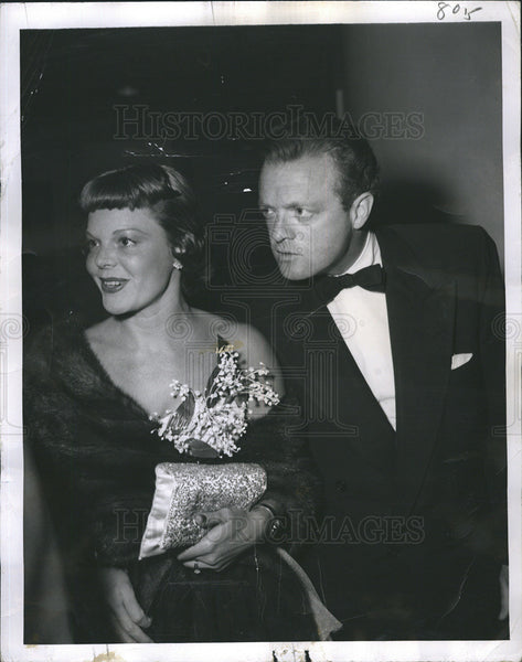 1950 Press Photo Actors Van Heflin and wife Frances Neal - Historic Images