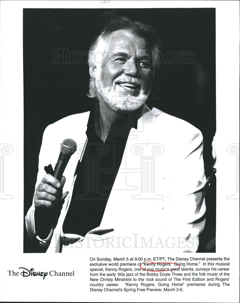 "Press Photo of Kenny Rogers in Disney musical special ""Kenny Rogers"" Going Home"" - Historic Images"