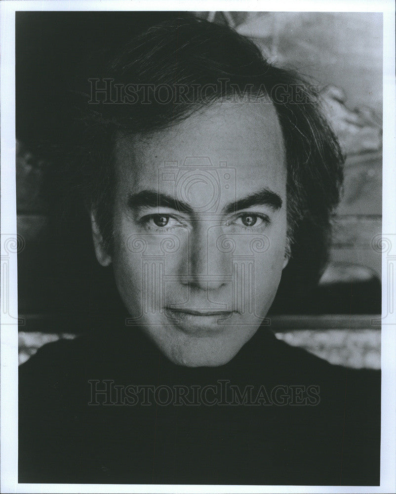 1989 Press Photo Neil Diamond American Singer Songwriter Rock Pop Folk Country - Historic Images