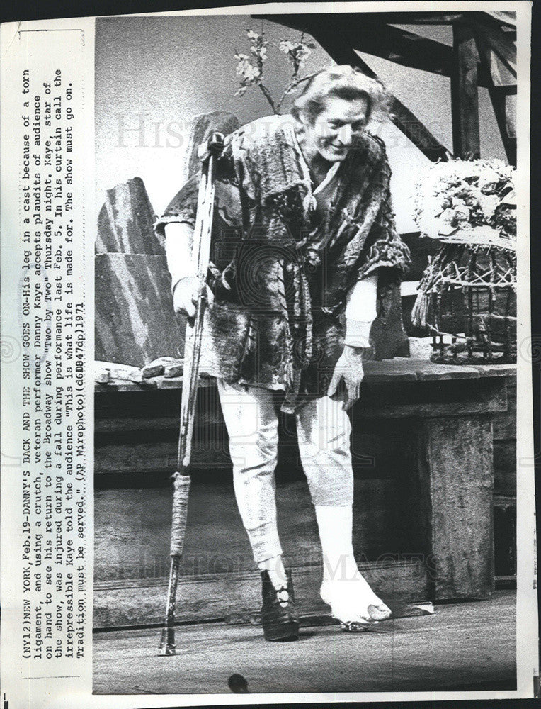 1971 Press Photo Danny Kaye TWO BY TWO Broadway Musical - Historic Images