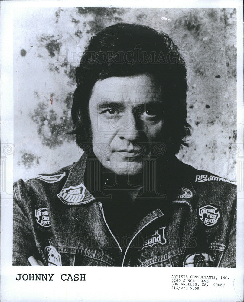 Press Photo Legendary Music Man Johnny Cash - Historic Images
