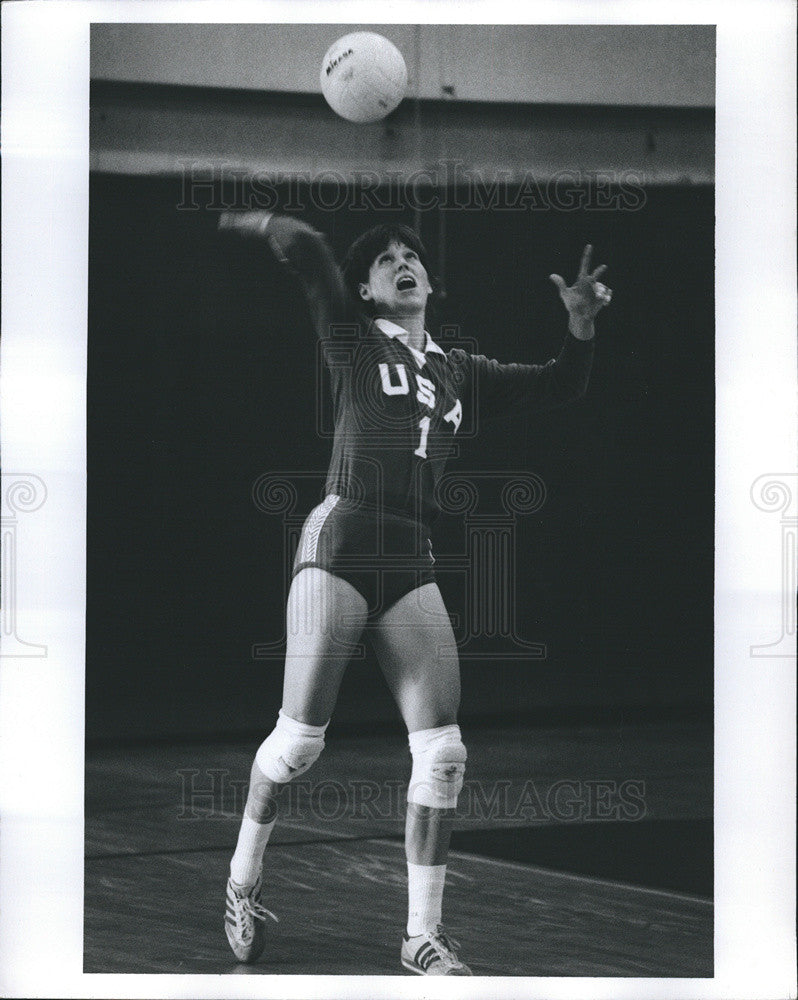 Press Photo Janet Baier (Volleyball) - Historic Images