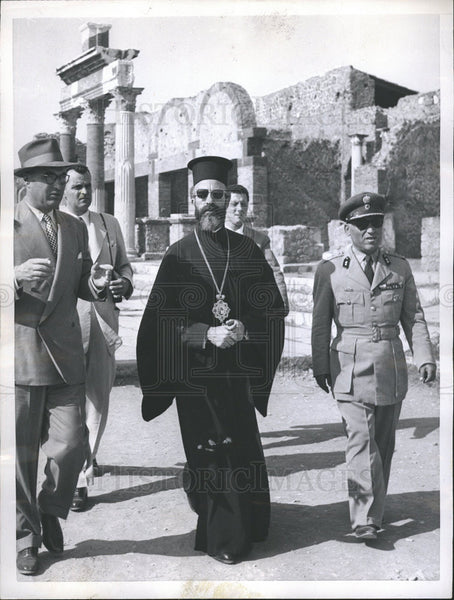 1957 Press Photo Archbishop Makarios,leader of Cypriot Independence Mo - Historic Images